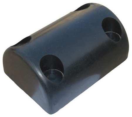 Value Brand Dock/Body Bumper 8x3-1/2x5-1/2 In Rubber