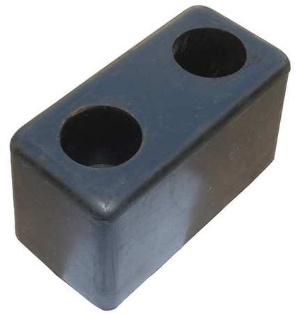 Value Brand Dock/Body Bumper 6x3-1/2x3-1/2 In Rubber