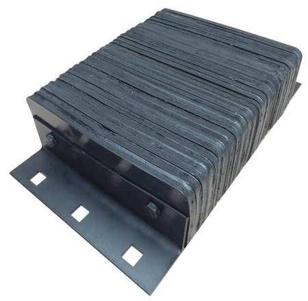 Value Brand Dock Bumper 20x4-1/2x12 In. Rubber