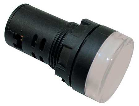 Raised Indicator Light 22mm 120V White by USA Dayton Electrical Control Pilot Lights