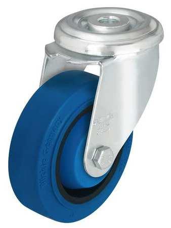 Value Brand Kingpin Swivel Caster Rubber 4 in 330 lb Blu