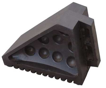 Value Brand Wheel Chock Molded Rubber Black Type 22XW83