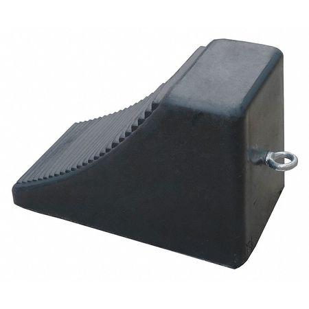 Value Brand Wheel Chock Molded Rbr w/Stl Grab Black Type 22XW84