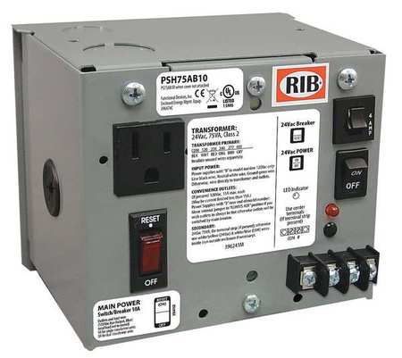 Class 2 Transformer 75VA 24VAC Multi Model PSH75AB10 by USA Functional Devices Electrical Class 2 Transformers