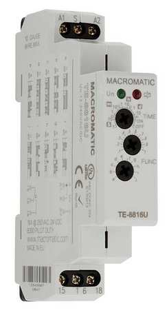 Time Delay Rlay 12 to 240VAC/DC 15A DPDT Model TE 8812U by USA Macromatic Electrical Time Delay Relays