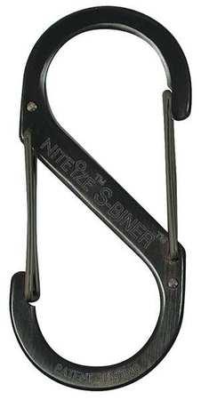 Nite Ize Carabiner Clip 3-13/25 In. Steel Black