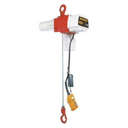 Harrington Electric Chain Hoist 400 lb. 10 ft. 120