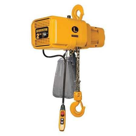 Harrington Electric Chain Hoist 525 lb. 10 ft. 120