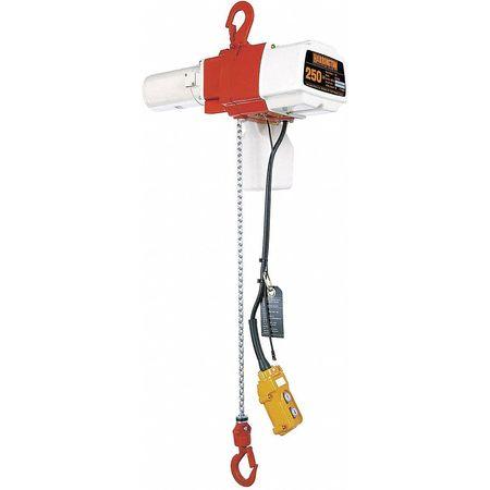 Harrington Electric Chain Hoist 525 lb. 20 ft. 120 Type ED525S-20