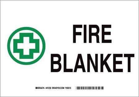 Fire Blanket Sign,7x10