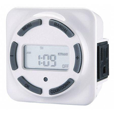 Timer Digital 1 Min. 7 Days Model 23YU32 by USA Dayton Electrical Plug In & Wall Switch Timers