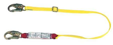 MSA 10088259 Shock-Absorbing Lanyard, 6 ft., Nylon