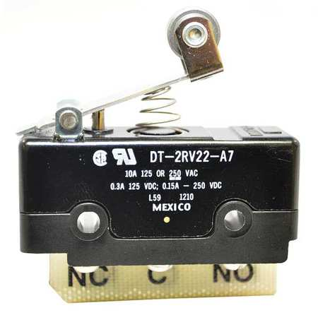Lg Basic Swch 10A DPDT Shrt Roller Lever by USA Honeywell Electrical Enclosed Snap Action Switches