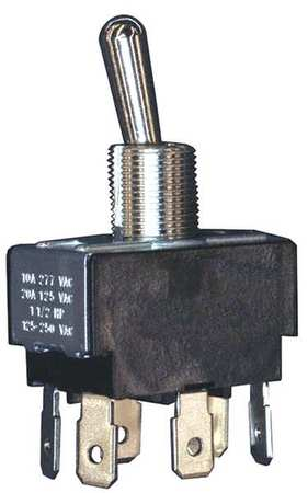 Toggle Switch DPDT 10A @ 277V QuikConnct Model 12TS95 3 by USA Honeywell Electrical Toggle Switches