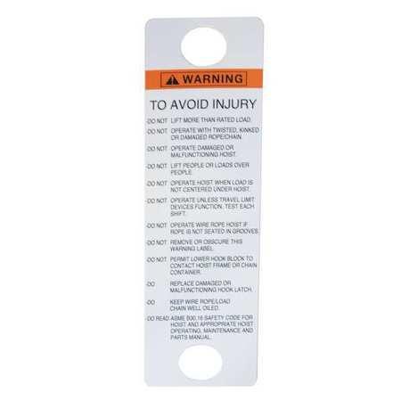 CM Warning Label Type 81704