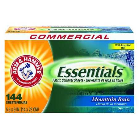 Arm And Hammer Box Mountain Rain Dryer Sheets, 144 Pack