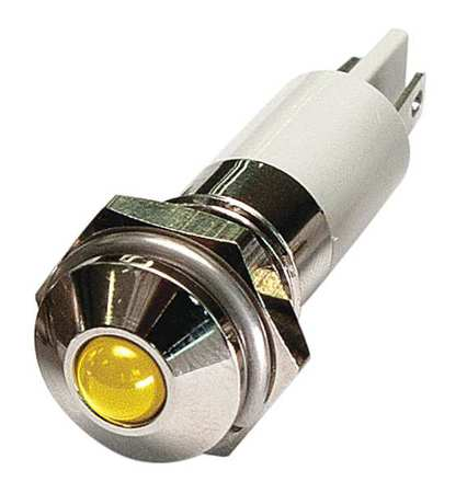 Round Indicator Light Yellow 24VDC by USA Value Brand Electrical Control Pilot Lights