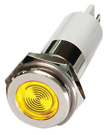 Flat Indicator Light Yellow 120VAC Model 24M138 by USA Value Brand Electrical Control Pilot Lights