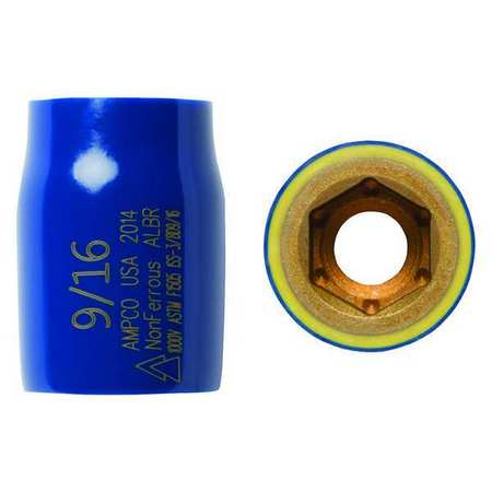 Ampco Insulated Socket 3/8 in. Dr 9/16 in. Hex