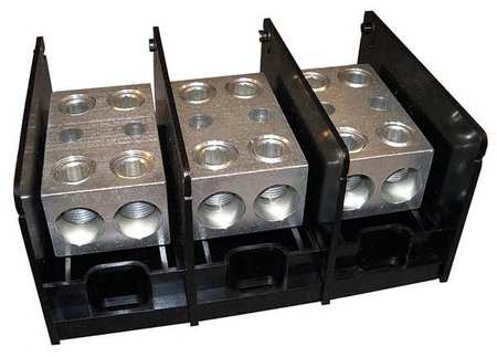 Pwr Dist Block 760A 3P 2P Secndry 600VAC by USA Mersen Electrical Wire Power Distribution Blocks