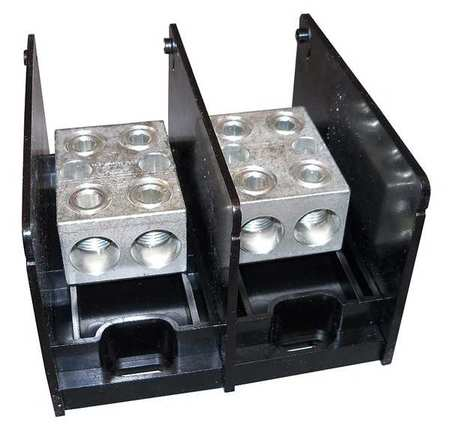 Pwr Dist Block 620A 2P 6AWG 350MCM 600V by USA Mersen Electrical Wire Power Distribution Blocks
