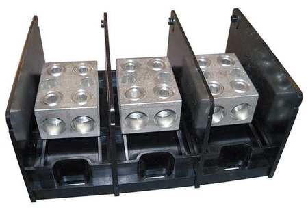 Pwr Dist Block 620A 3P 2P Secondary 600V by USA Mersen Electrical Wire Power Distribution Blocks