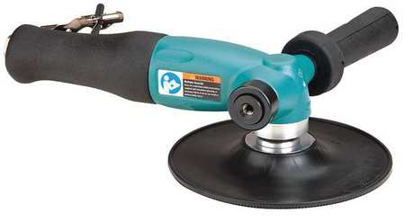 Right Angle Air Disc Sander,ind,1.3 Hp