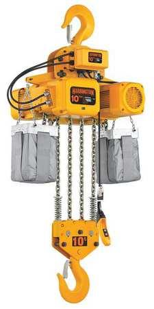 Harrington Electric Chain Hoist 20 000 lb. 10 ft. Type NER100S-10