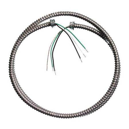 18 AWG 4 Conductor Solid Metal Clad Lite Whip 600VAC 6 ft. by USA Southwire Electrical Wire & Cable