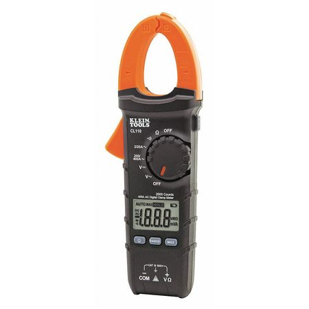 Digital Clamp Meter AC Auto Ranging 400A by USA Klein Electrical Clamp Meters