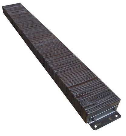 Value Brand Dock Bumper 12x4-1/2x98 In. Rubber