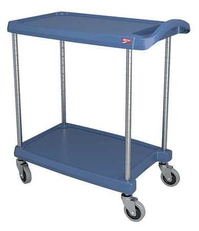 Value Brand Utility Cart 300 lb. Load Cap. 2 Shelves Type MY1627-24BU