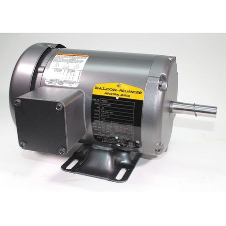 Motor 3 Ph TEFC 3/4 HP 1725 RPM Foot Model M3542 by USA Baldor General Purpose 3 Phase AC Motors