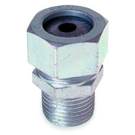 Liquid Tight Connector 1/2in. Silver Model 3702 1 by USA Raco Electrical Strain Relief Connectors