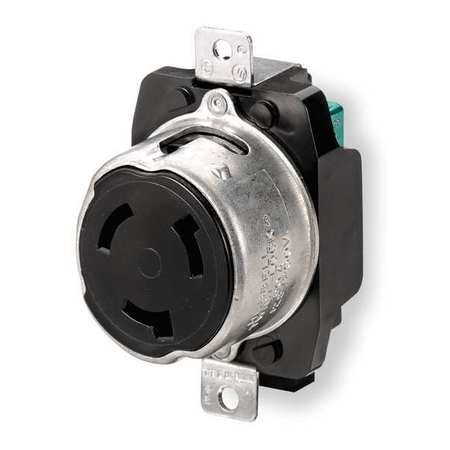 50A Locking Receptacle 3P 4W 600VAC/250VDC BK by USA Hubbell Kellems Electrical Locking Receptacles