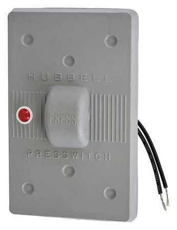 Weatherproof Wall Plate 1 Gang Gray Model HBL1785 by USA Hubbell Kellems Electrical Wall Plates