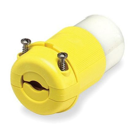 20A Marine Locking Connector 2P 3W 125VAC L5 20R YL by USA Hubbell Kellems Electrical Locking Connectors