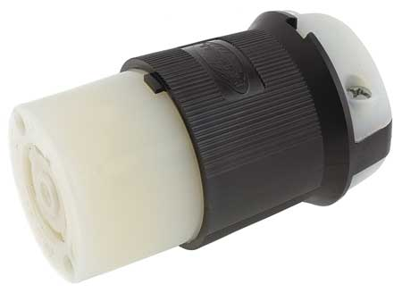 30A Locking Connector 3P 4W 600VAC L17 30R BK/WT by USA Hubbell Kellems Electrical Locking Connectors