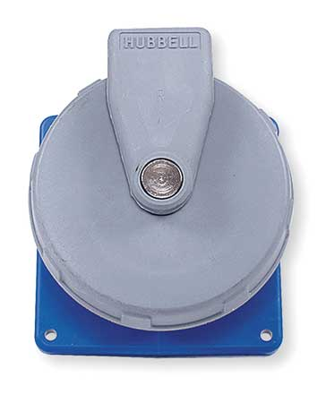 IEC Pin and Sleeve Receptacle 30A 208V by USA Hubbell Kellems Electrical Pin & Sleeve Receptacles