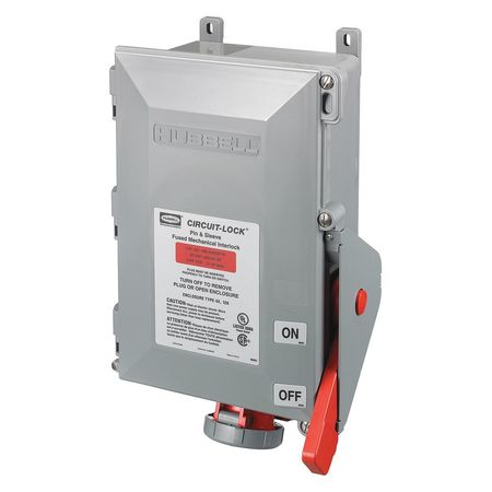 Interlock Mechanical Model HBL430MIF7W by USA Hubbell Kellems Electrical Pin & Sleeve Receptacles