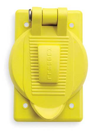 Weatherproof Cover Vertical Yellow Model HBL74CM25WOA by USA Hubbell Kellems Electrical Weatherproof Box Covers