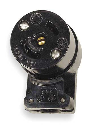 15A Midget Locking Angle Connector 2P 3W 120VAC by USA Hubbell Kellems Electrical Locking Connectors