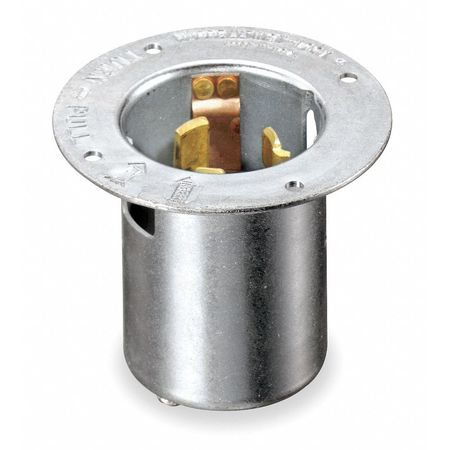 50A Flanged Locking Inlet 3P 4W 125/250VAC BK by USA Hubbell Kellems Electrical Locking Receptacles