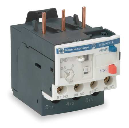 Overload Relay 1.60 to 2.50A 3P Class 10 by USA Schneider Electrical Motor Overload Relays