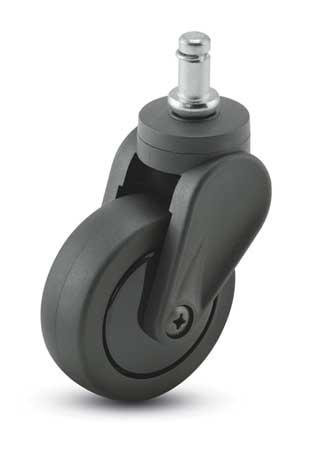 Value Brand Swivel Stem Caster Polyurthn 3 in 120 lb Type PEC30223BK-TPU03(KK)