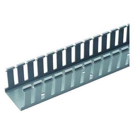Wire Duct Wide Slot Gray 1.26 W x 2 D by USA Panduit Wiring Ducts