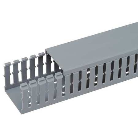 Wire Duct Narrow Slot Gray 2.25 W x 3 D by USA Panduit Wiring Ducts