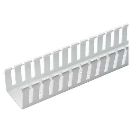 Wire Duct Wide Slot White 1.26 W x 4 D by USA Panduit Wiring Ducts