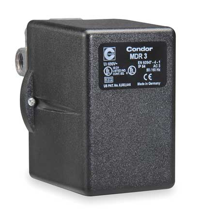 Pressure Switch 3PST 60/80 psi Diaphragm Model 31GGXXXX by USA Condor Electrical Pressure Switches