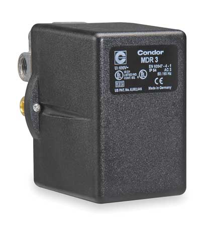 Pressure Swtch 3PST 45 to 160 psi Stndrd by USA Condor Electrical Pressure Switches